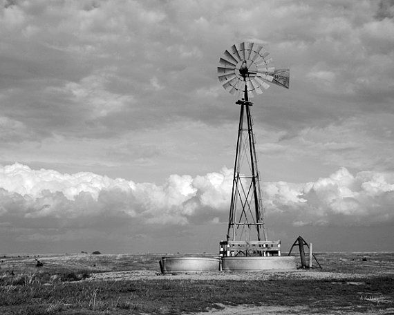 Stormy Windmill Photograph - Windmill Art - Cowboy Art - Nebraska Art on Etsy, $29.75