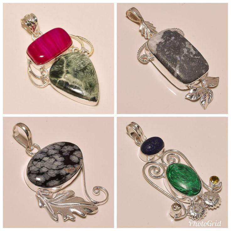 Multi Gemstone Pendants # Pendant For Men # Pendant Necklace # Pendant Locket # Pendant Jewelry # Indian Handmade Jewelry # Stocking Fillers by Realvaluejewels on Etsy