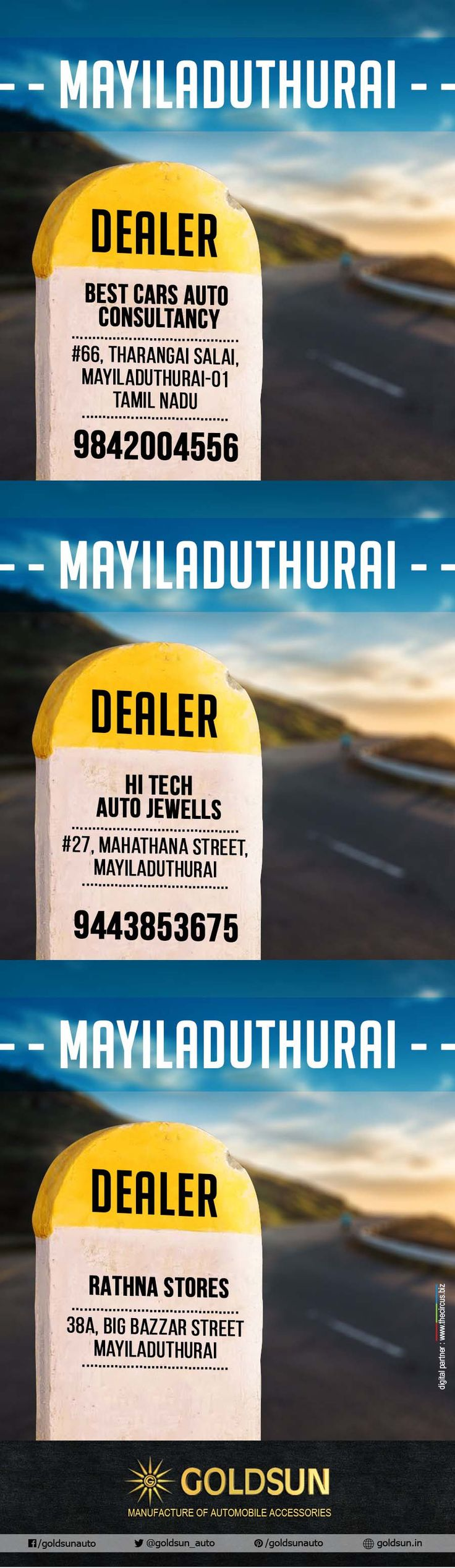 We, Goldsun provide #Automobile #Accessories #Bumper, #nudge_guard, #luggage_carrier, #side_steps for all #indian #cars. Find out our stylish accessories now at Mayiladuthuari ( Tamilnadu ).  For more details call : +91 93444 49111 Visit your nearest Automobile #Accessory store or www.goldsun.in   #dealers #goldsun #mayiladuthurai
