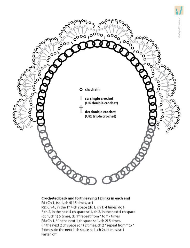 327 best Crochet Collar images on Pinterest | Crochet necklace ...