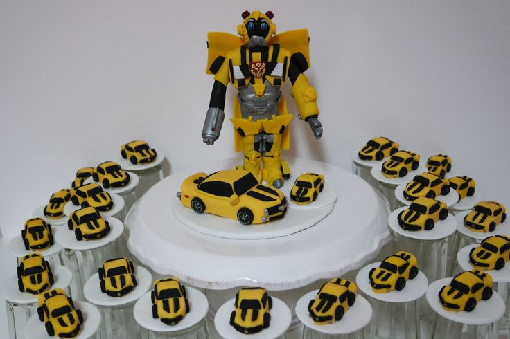 Transformers Bumble bee, transformers bumble bee figurine, bumble bee car, transformers cake topper