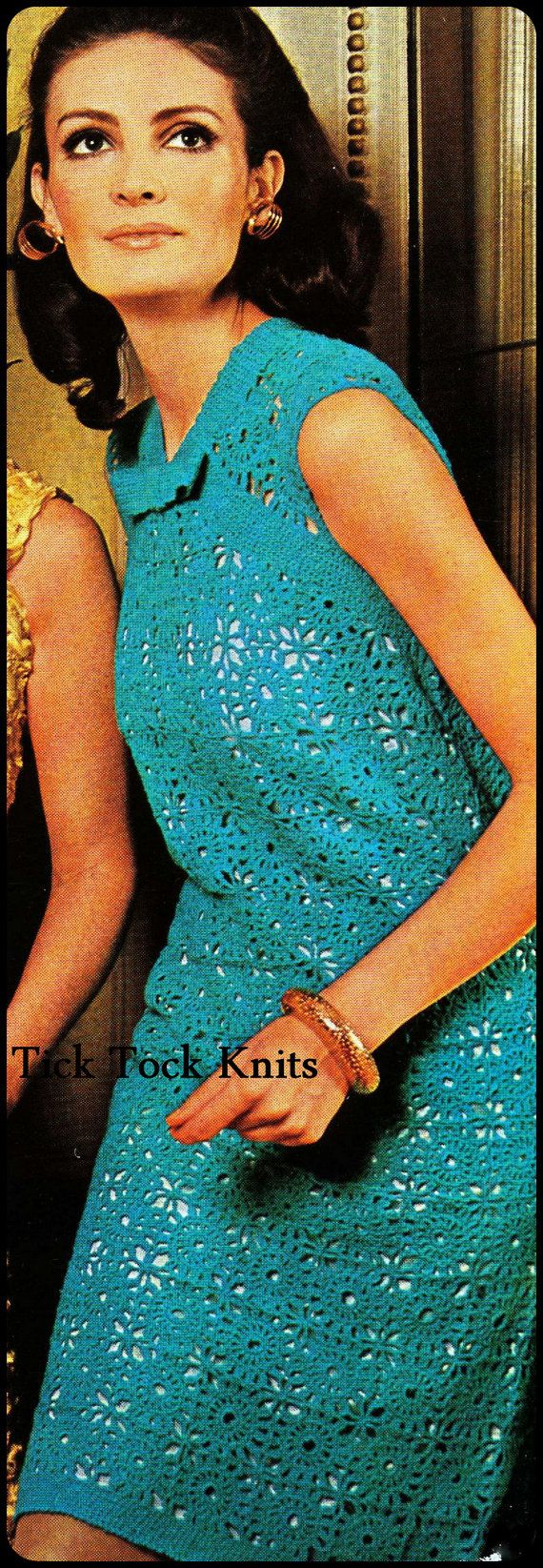 No.295 Crochet Dress Pattern PDF Vintage Women's by TickTockKnits