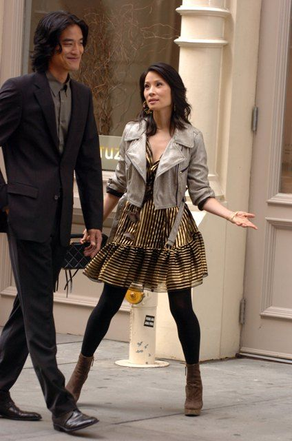 Lainey Gossip Entertainment Update Lucy Liu and Jack Yang on the set of Cashmere Mafia