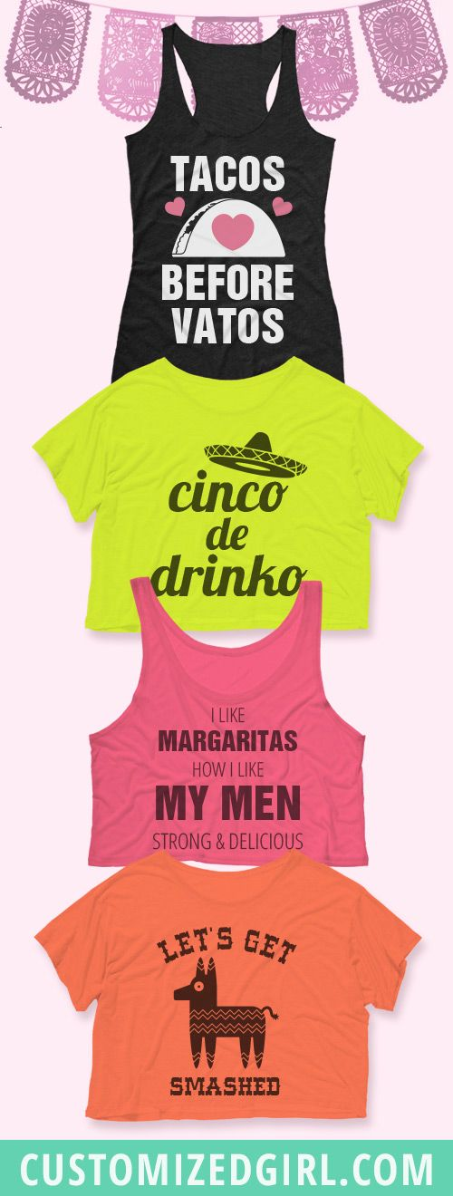 Take your fiesta to the next level this year with custom Cinco de Mayo shirts! #cincodemayo