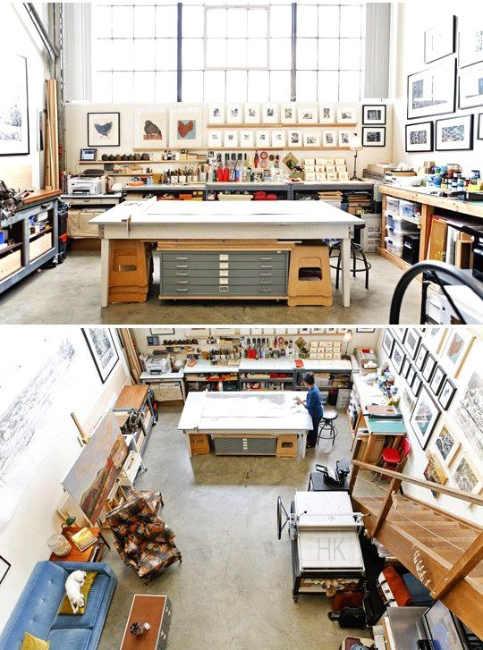 Sirima's Vintage Industrial Artist's Loft  ( http://www.apartmenttherapy.com/sirimas-vintage-industrial-artists-loft-house-tour-187770#_ )