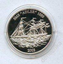 Самоа 10$ 2003 Корабль серебро
