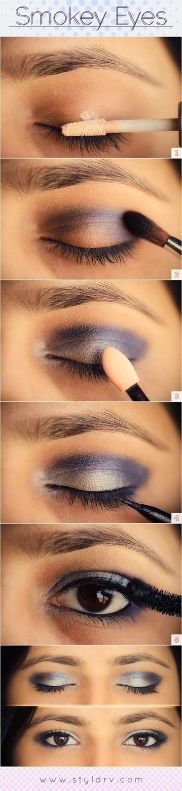 Smokey eyes for brown eyes. This has to be the easiest smokey eye that I have ever seen.
