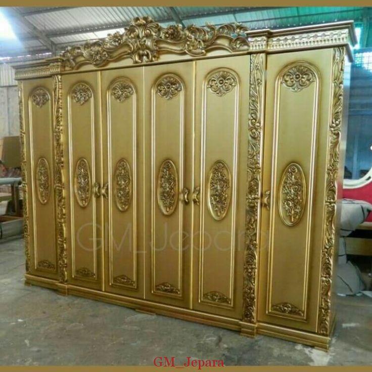 Lemari Pakaian Mewah Brahwana, lemari pakaian 4 pintu, model lemari terbaru, lemari pakaian mewah, bedroom, furniture jepara, mebel jepara