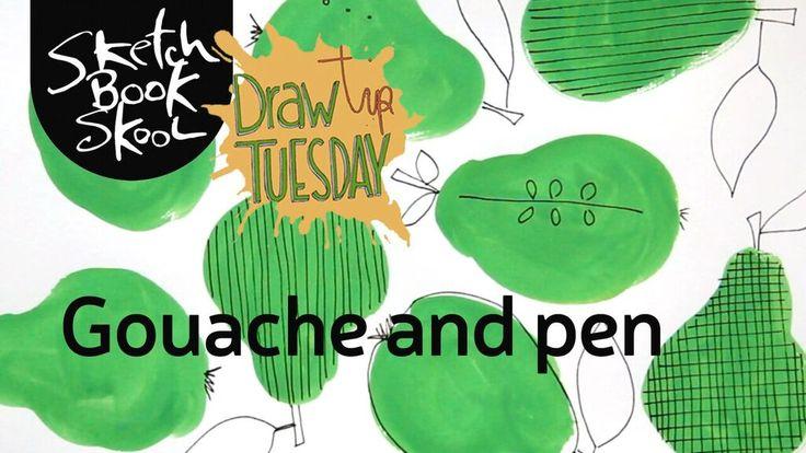 Tipp zeichnen Dienstag: Wie man Gouache mit Stift benutzt