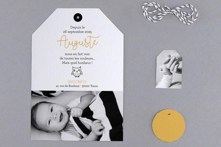 Faire-part de naissance personnalisés, faire-part original, motif fpc