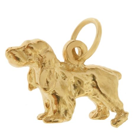 Dog - Cocker Spaniel 14k Gold Charm