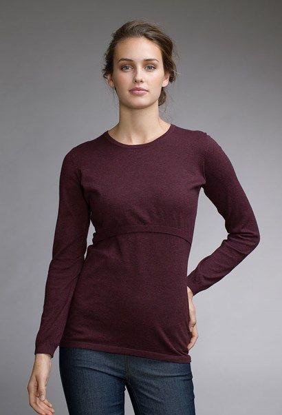 Knitted maternity jumper / nursing jumper