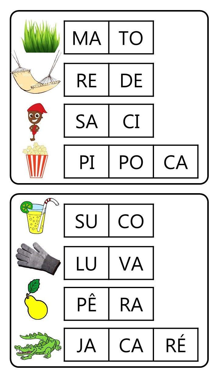 Criar Recriar Ensinar Jogos De Alfabetizacao Atividades De