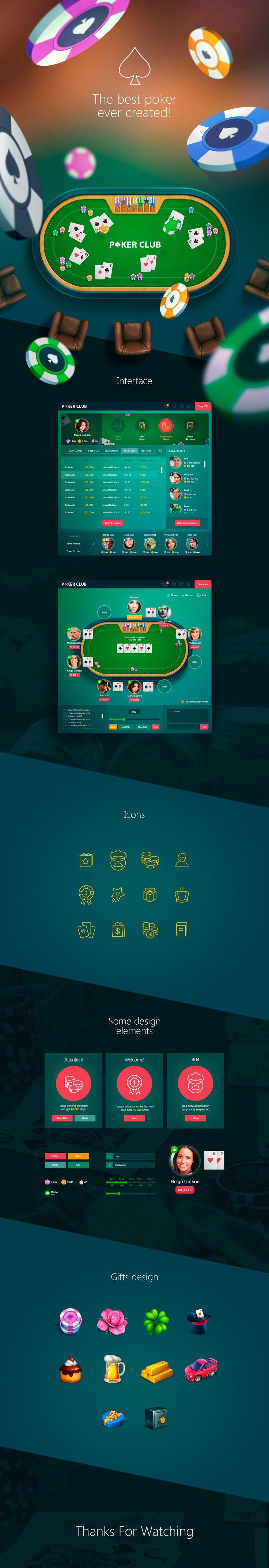 Poker game - app for social network on Behance