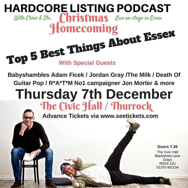 Looking forward to being a guest on the Hardcore Listing: #Christmas Special LIVE podcast. NO IDEA what I'm letting myself in for [tickets  via @seetickets]  _________________________________ #podcast #podcasts #listing #grays #thurrock #essex #hardcore #christmas #homecoming #live #liveshow