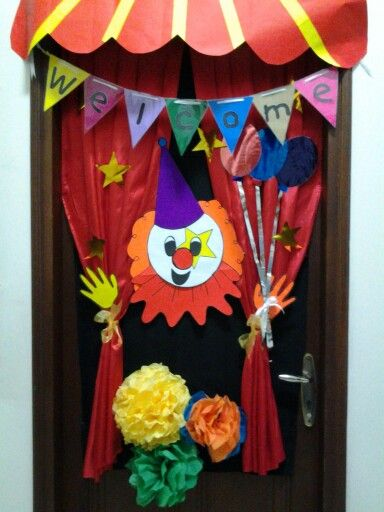 Our Carnival decorations classroom on door