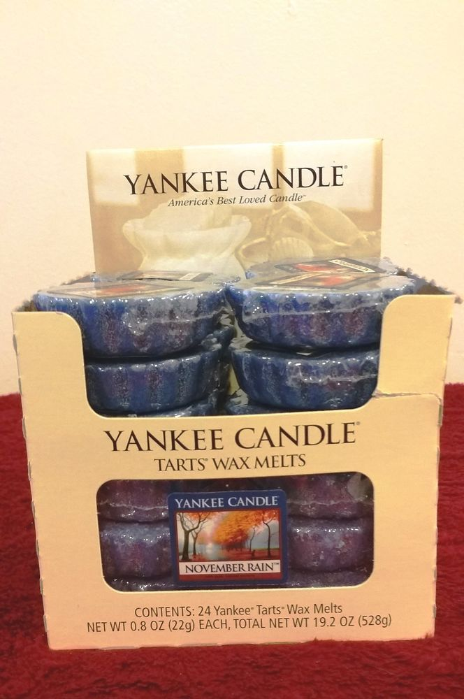 Yankee Candle November Rain Tarts - FULL BOX OF 24!!!! #YankeeCandle