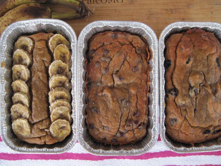 PaleOMG – Paleo Recipes – Banana Bread 3 Ways (nut free)