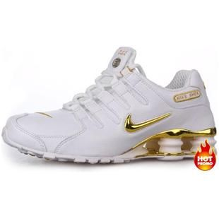 http://www.asneakers4u.com Mens Nike Shox NZ 309 White Gold