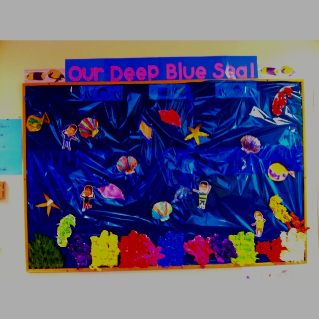 Ocean Animals Bulletin Board Like the background