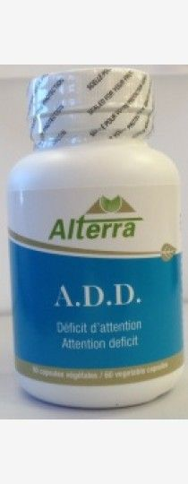 A.D.D. by Alterra - Improves concentration Stimulates mental function Physical and psychological stress Chronic and mental fatigue Hyperactivity