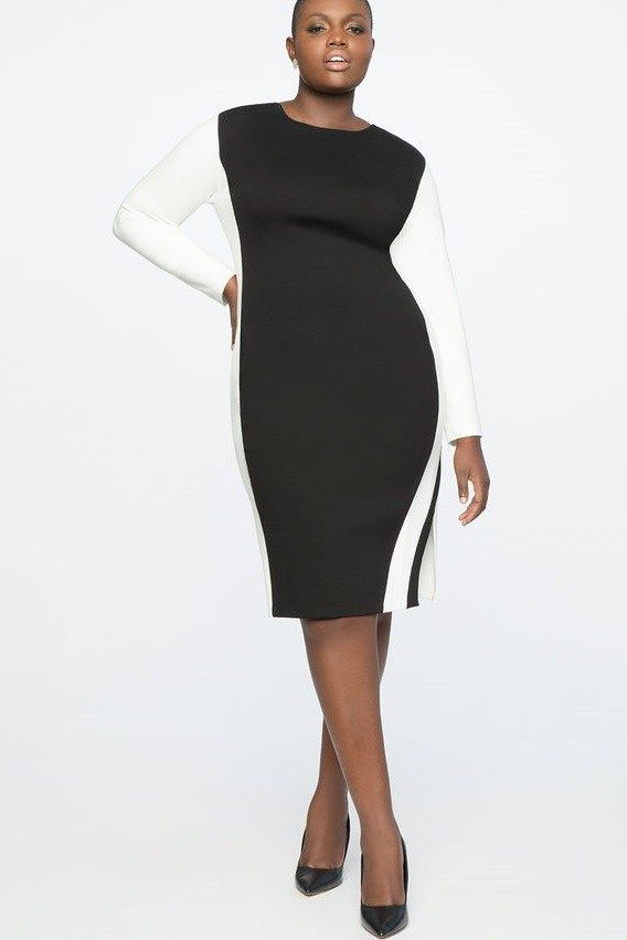 Plus Size Colorblocked Black And White Dresses Find The Perfect