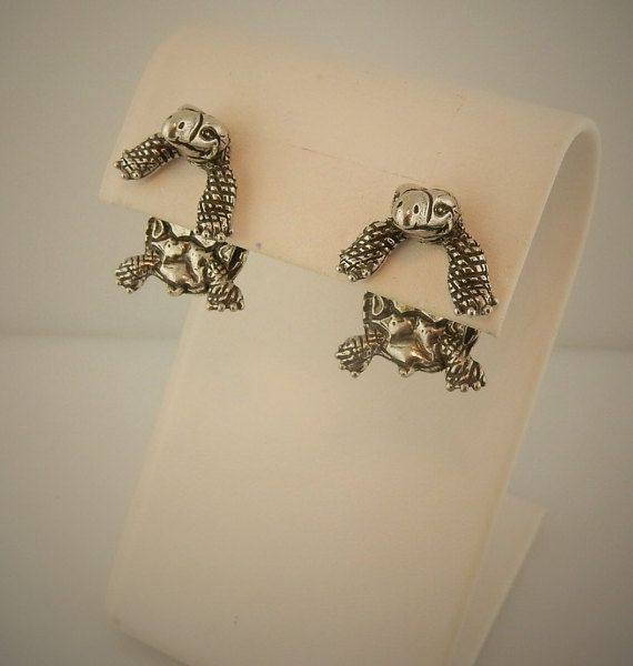 Vintage EARlusion Brand Pewter Turtle Earrings by celtictreasures