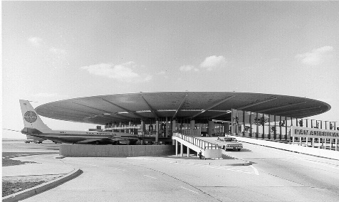 Pan Am terminal at JFK.  Mid century airport architecture