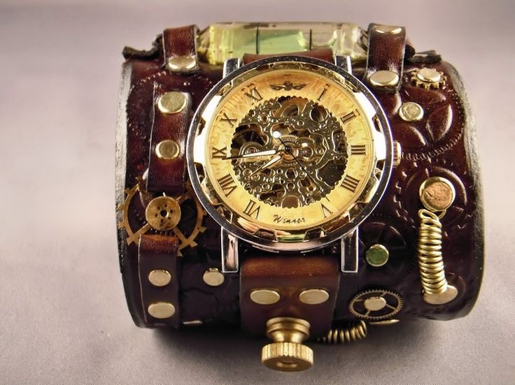 poignet de force / montre steampunk