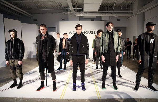 Models pose at Wood House Presentation during NYFW: Men's  on January 30, 2017 in New York City.