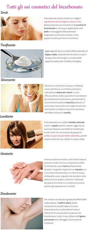 Tutti gli usi cosmetici del bicarbonato