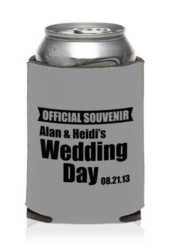 FREE SHIPPING Official Souvenir Wedding Reunion Can Bottle Holder Party Favors Trinkets Coolers Personalized Custom Beer Can Foam by WeddingsandReunions on Etsy