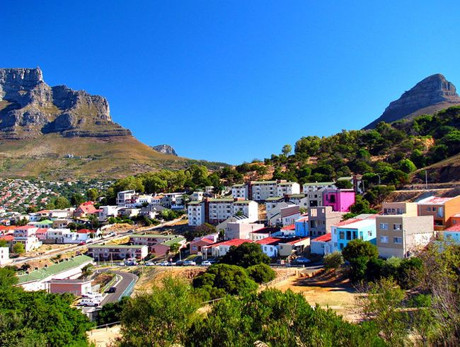 Bo-Kaap of Signal Hill in Cape Town, South Africa