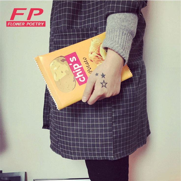 Fashion Envelope bags PU leather potato chips day cluthes bags 3 sizes women party clutch for teenage girl