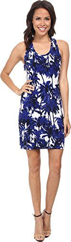 Karen Kane Women's Racerback Tank Dress, Print, Medium