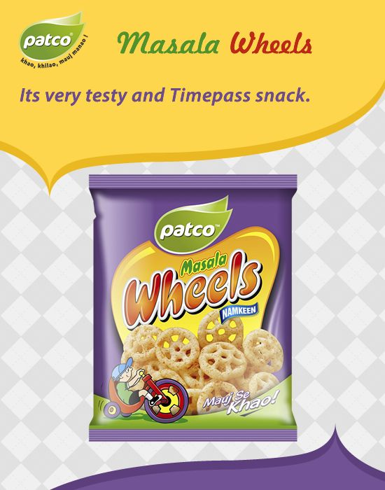 Kids favorite #Patco Masala #Wheels snacks. It's Very Testy and Time pass Snack