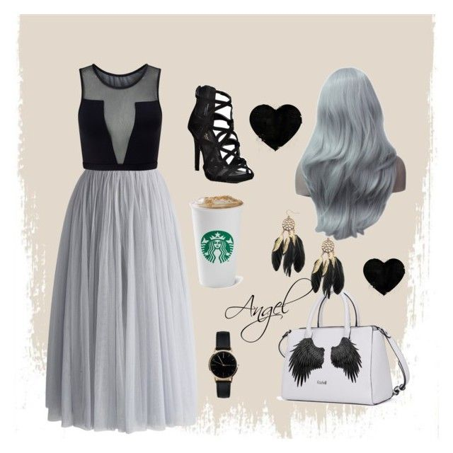 #Grey🌑 by Angel1324❤️on Polyvore featuring polyvore, fashion, style, Varley, Chicwish, Freedom To Exist, clothing and grey