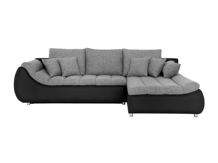ALSDORF 3-sits Divansoffa Svart/Grå i gruppen Inomhus / Soffor / Divan-, hörn- & U-soffor hos Furniturebox (110-50-88431r)