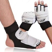 Wish | Half Finger Fight Boxing Gloves Mitts Sanda Karate Sandbag TKD Protector for Boxeo MMA Muay Thai Kick Boxing Training
