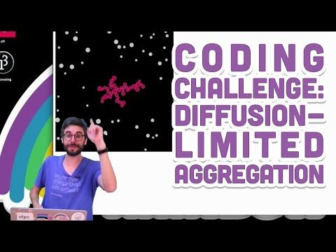 Coding Challenge #34: Diffusion-Limited Aggregation
