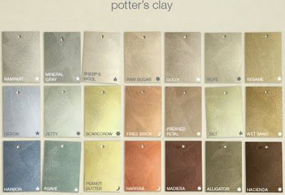 Martha Stewart's Potters Clay..... a new paint technique... adds color and texture.....SO COOL!!!!!