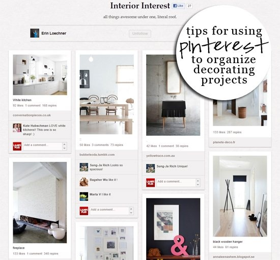 Love this article from LampsPlus on how to use Pinterest to organize your decorating projects.
