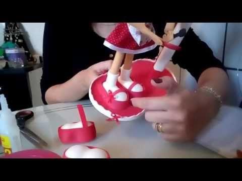 Passo a passo Boneca porta papel toalha(Re Monik) - YouTube