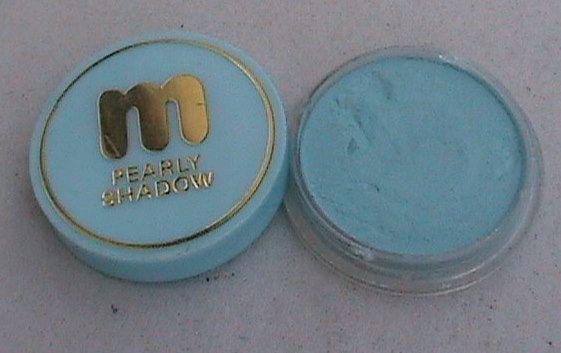 Vintage Miners Make-Up Ltd Surbiton England Pearly Eye Shadow Turquoise Ref No 3J H85 Circa 1960s
