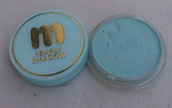 Vintage Miners Make-Up Ltd Surbiton England Pearly Eye Shadow Turquoise Ref No 3J H85 Circa 1960s