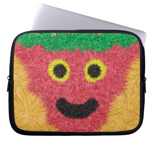 Abstract modern face pattern laptop computer sleeves
