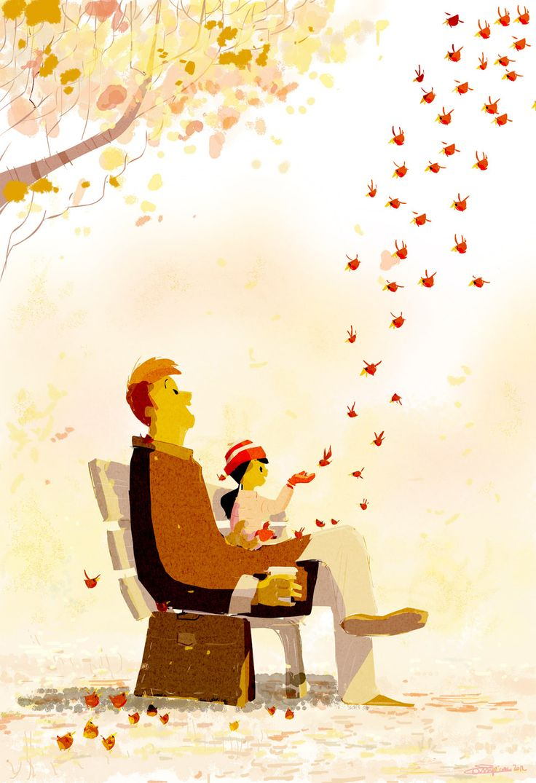 A simplicidade da vida transformada em ilustração