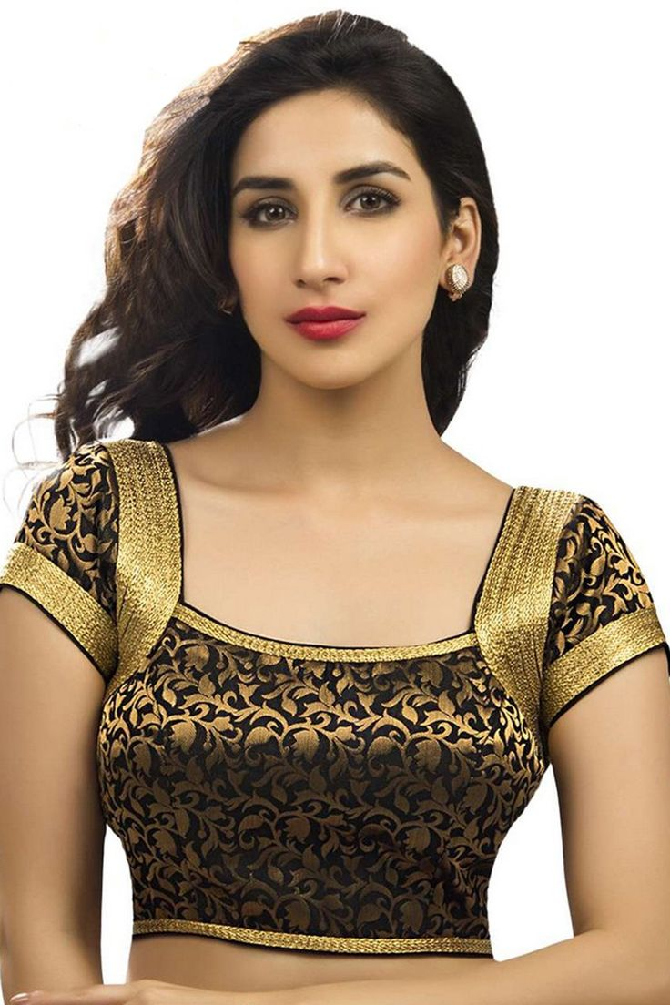 Black & gold festive wear banarasi semi brocade wonderful blouse with cap sleeves -BL713 | online designer blouse shopping | #banarasi #capsleeves #ravishing #collection #new #beautiful