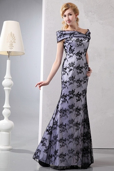 A-Line Lace Romantic Mother Of Bride Dress wr1191 - http://www.weddingrobe.co.uk/a-line-lace-romantic-mother-of-bride-dress-wr1191.html - NECKLINE: Off Shoulder. FABRIC: Lace. SLEEVE: Sleeveless. COLOR: Black. SILHOUETTE: A-Line. - 122.59