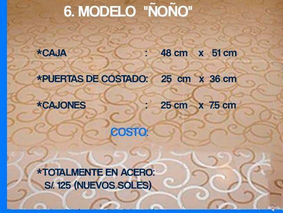 "GABINETE PARA BAÑO 6. MODELO ""ÑOÑO"""